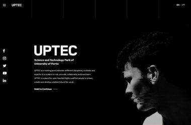 UptecのWebデザイン