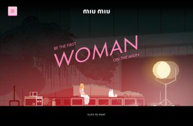 Miu MiuのWebデザイン