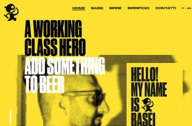 Basei BreweryのWebデザイン