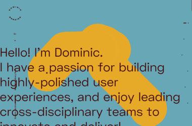 Dominic BerzinsのWebデザイン