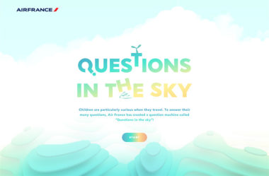 Questions in the Sky by Air FranceのWebデザイン