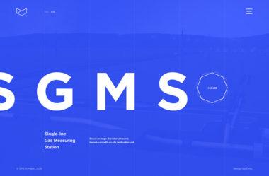 Single-line Gas Metring StationのWebデザイン