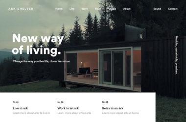 Ark ShelterのWebデザイン
