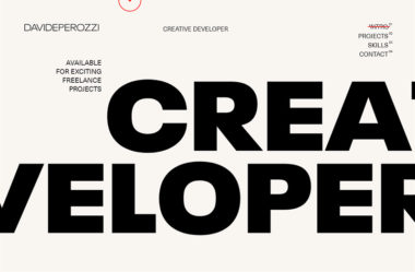 Davide PerozziのWebデザイン