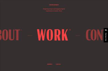 Steven Hanley | Product DesignerのWebデザイン