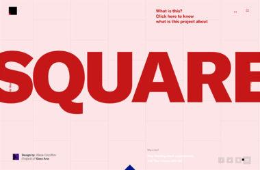 SquareのWebデザイン