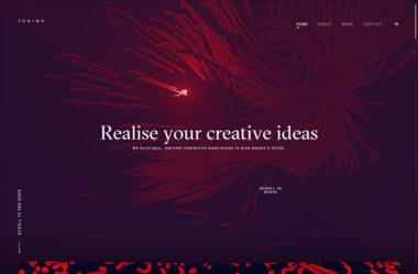 LusionのWebデザイン