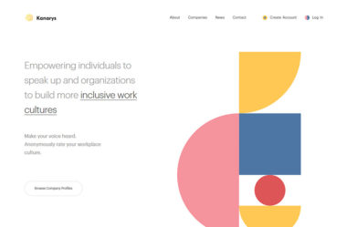 KanarysのWebデザイン