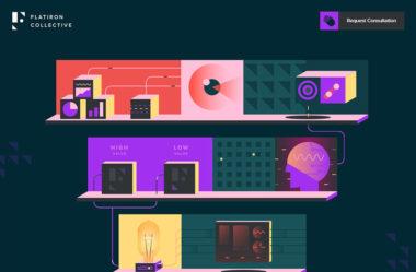 Flatiron CollectiveのWebデザイン