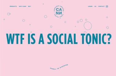 Cann Social TonicsのWebデザイン