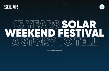 15 years — Solar WeekendのWebデザイン