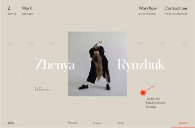 Zhenya RynzhukのWebデザイン