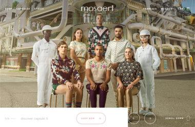 mosaert storeのWebデザイン
