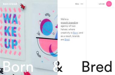 Born & BredのWebデザイン