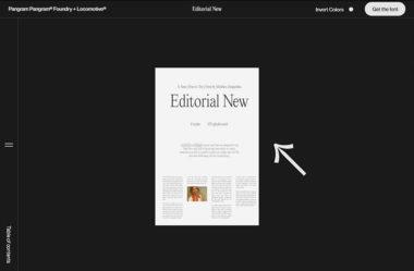 Editorial NewのWebデザイン