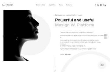 뮤자인のWebデザイン