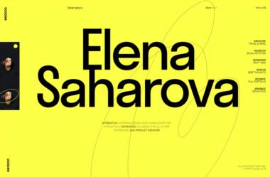 Elena SaharovaのWebデザイン