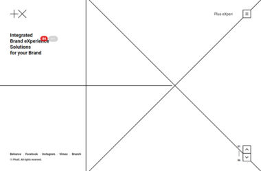 Plus X Creative PartnerのWebデザイン