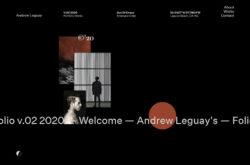 Andrew Leguay Folio20のWebデザイン