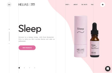 Helias OilsのWebデザイン