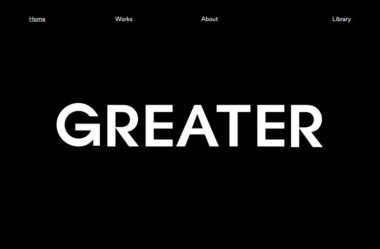 Where It's GreaterのWebデザイン
