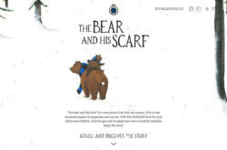 The Bear and his ScarfのWebデザイン