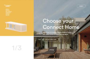 Connect homeのWebデザイン