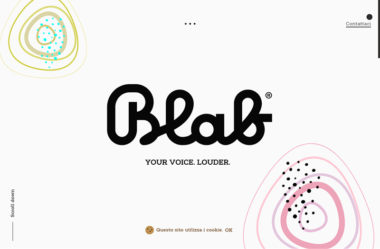 Blab StudioのWebデザイン