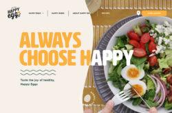 Happy EggのWebデザイン