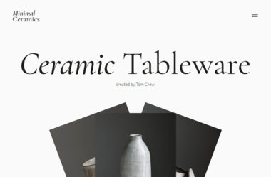 Ceramic Tableware by Tom Crew